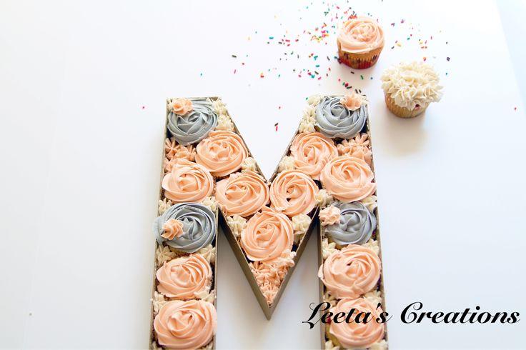 Monogram letter Cupcakes!