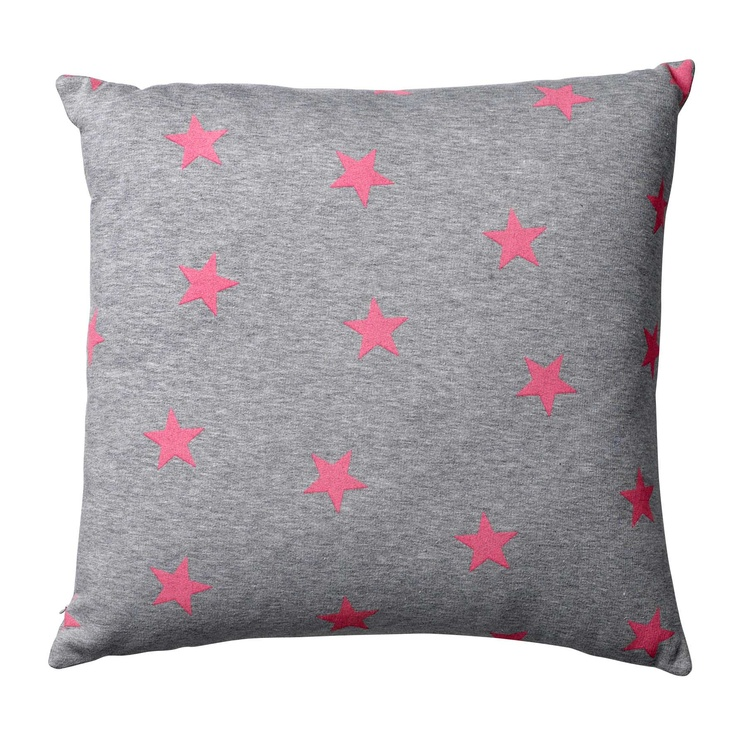 Bloomingville jersey cushion with pink stars - www.bloomingville.com