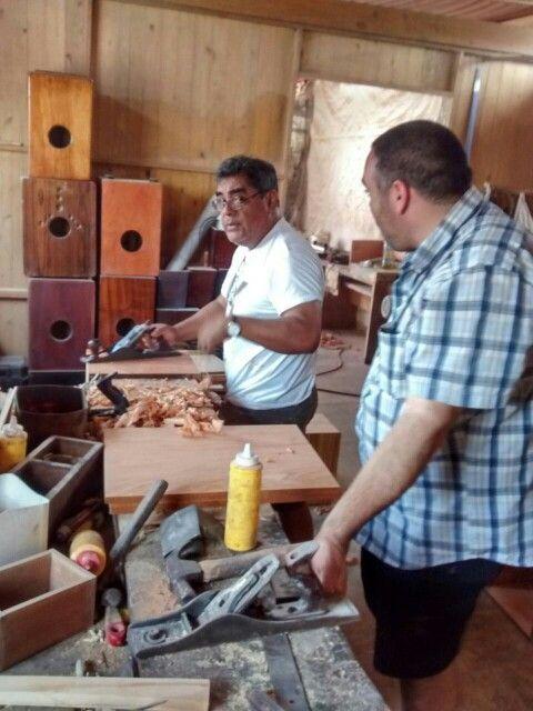 Visita al taller de Pedro Rodriguez.