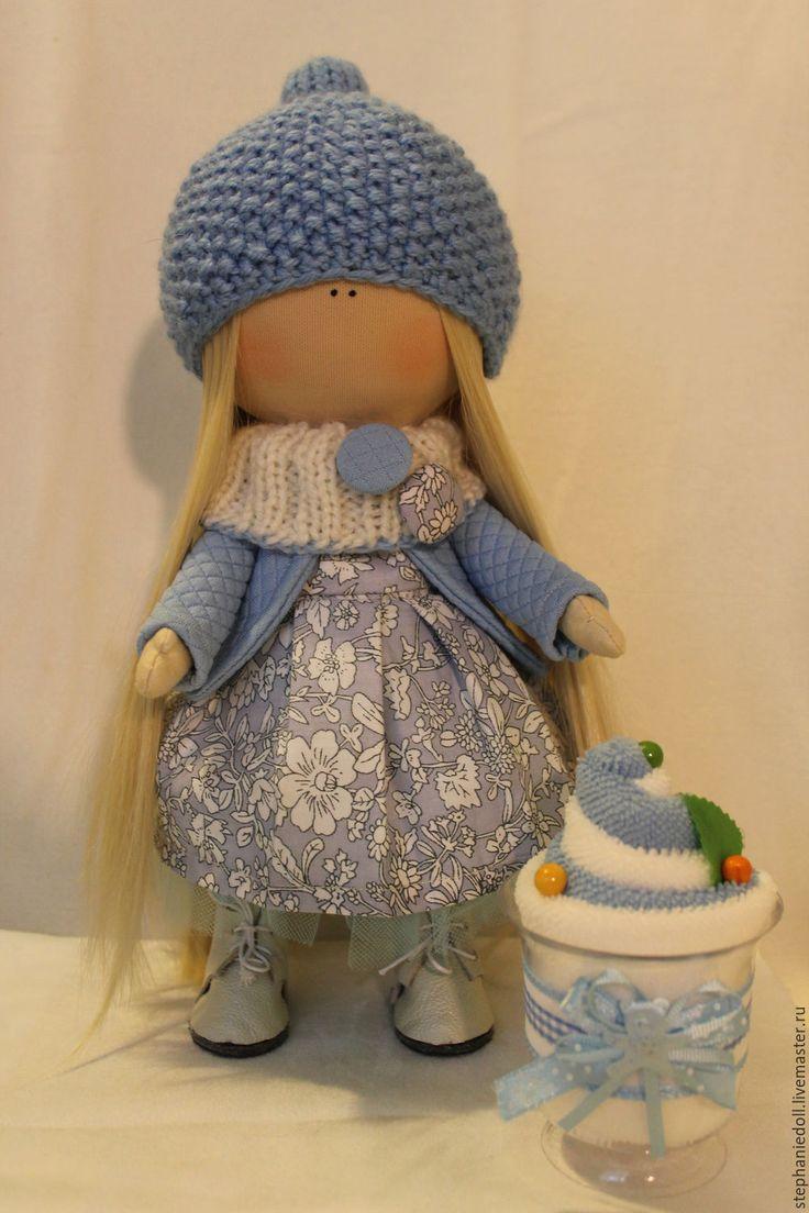 Купить Интерьерная куколка - интерьерная кукла, текстильная кукла, ручная работа, подарок, игрушка, хлопок
