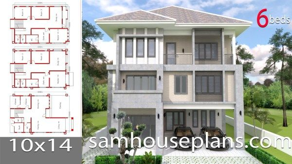 House Plans Idea 8x7 With 3 Bedrooms Sam House Plans House Plans Three Story House Story House
