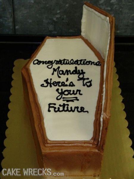 Passive-aggressive cake.