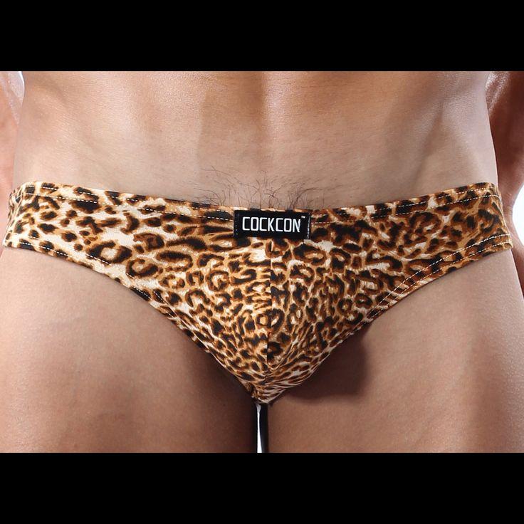 Sexy Cockcon thong, leopard print