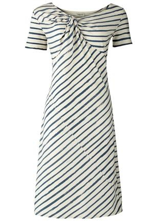 Brush Stripe Twist Dress | People Tree (UK) $18 - this dress is so flattering with the diagonal stripe pattern and the interesting twist neckline - too bad it's on clearance and almost sold out :(