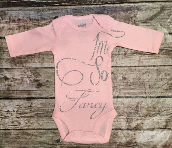 Im So Fancy Onesie Baby Girl Newborn Shirt New Baby by ALGDezigns