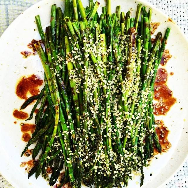 Roasted asparagus with balsamic glaze and sprinkled with hemp seeds. Get energized! ‪#‎ThePlantpowerWay‬ is COMING SOON - pre-order today and get tons of awesome bonus gifts, including 9 recipes not in the book: http://www.richroll.com/the-plantpower-way/