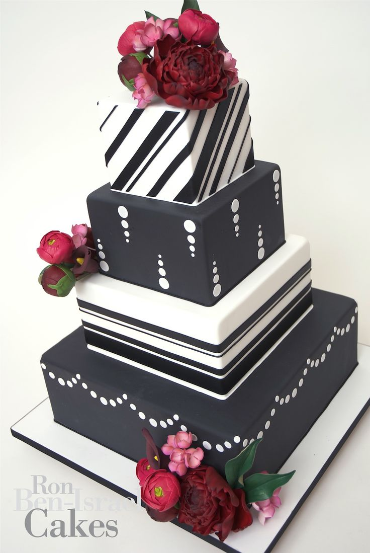 Red and black wedding decor   Best images about Food on Pinterest  White chic Pastries and