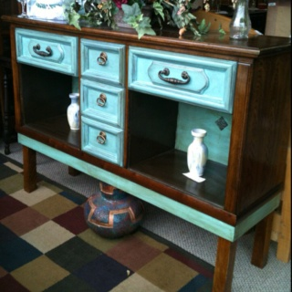 Homemade sideboard. Visit us at fitzsfurniture@gmail.com on Facebook. $300.00
