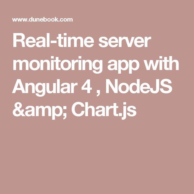 Real-time server monitoring app with Angular 4 , NodeJS & Chart.js