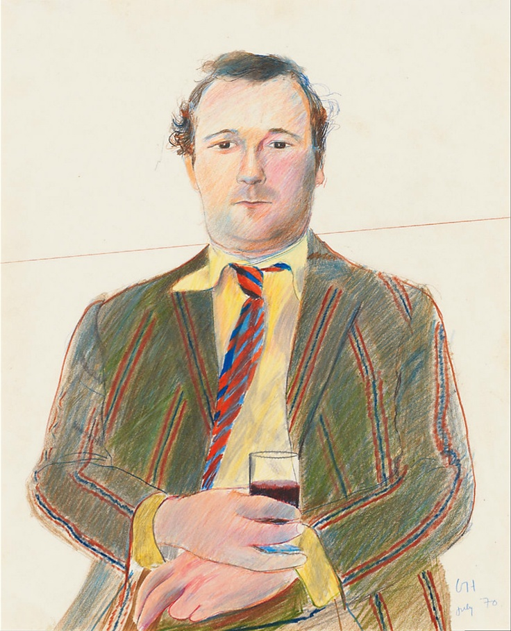 David Hockney: Portrait of Peter Langan (1970)