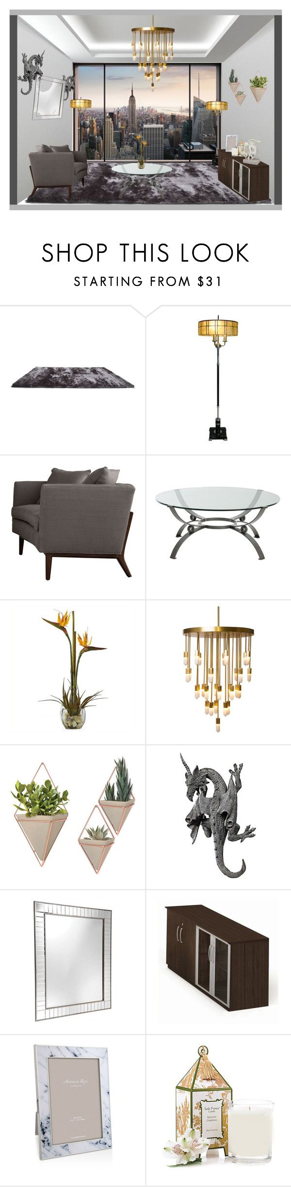 """City View"" by karimaputri on Polyvore featuring interior, interiors, interior design, home, home decor, interior decorating, Komar, Gold Sparrow, Arteriors and Nearly Natural"