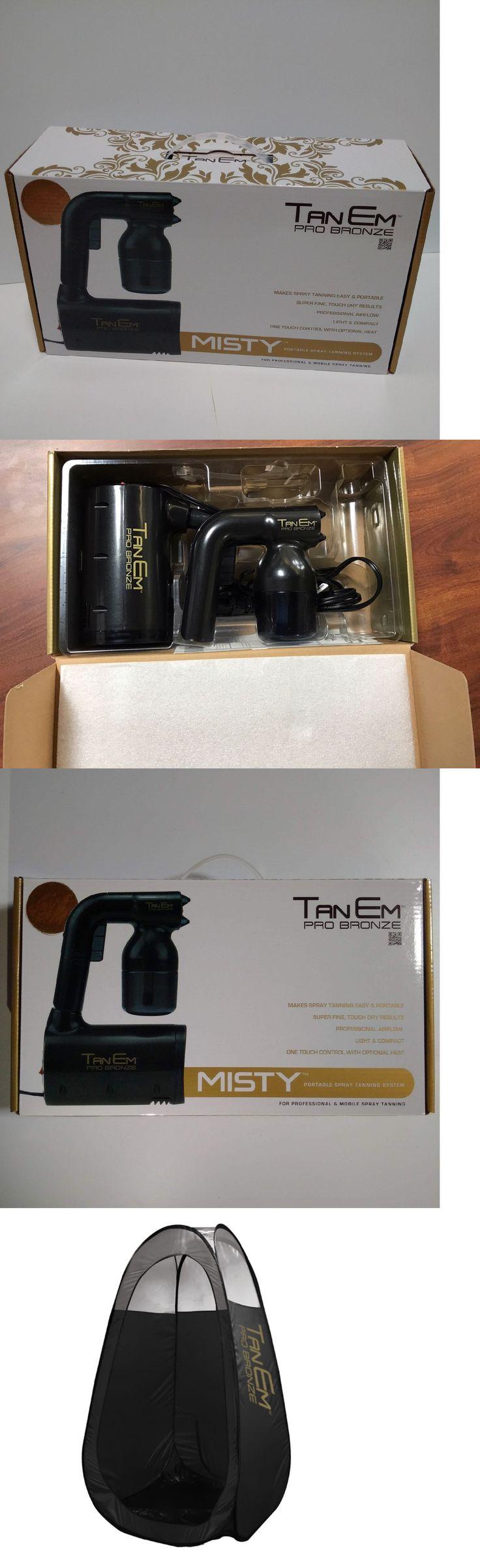 Airbrush Compressors and Guns: Tanem Pro Bronze Misty Portable Tanning Machine Handheld Spray Gun Tan Tent Kit BUY IT NOW ONLY: $199.95