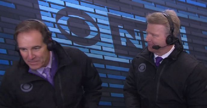Everyone Thinks Phil Simms Farted On Jim Nantz During This CBS Broadcast - RantSports - http://www.rantsports.com/nfl/2017/04/07/phil-simms-farted-on-jim-nantz-cbs/