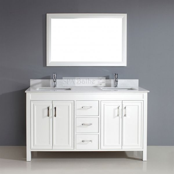 Shop Spa Bathe  CO60WHT-SSC Cora Double Vanity at Lowe's Canada. Find our selection of bathroom vanities at the lowest price guaranteed with price match + 10% off.