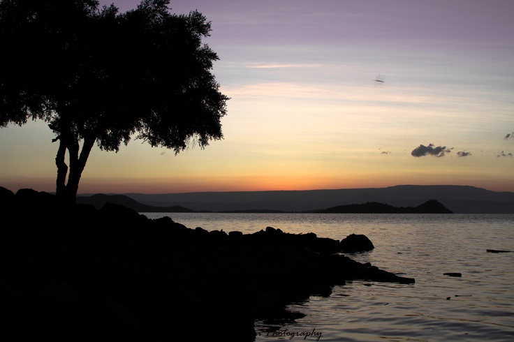 Sunrise from the shores of Lake Baringo, Kenya.