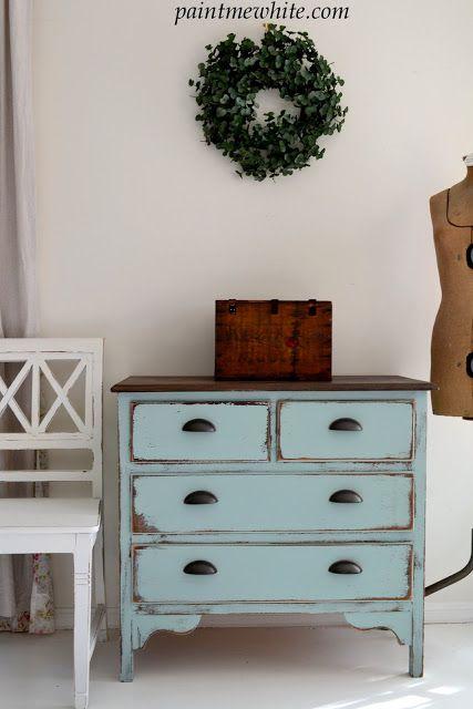 Charming & Chippy: Coastal Blue Dresser Makeover (tutorial)