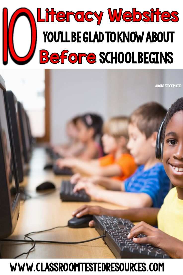 10 Literacy Websites that You'll Be Glad to Know *Before* School Starts