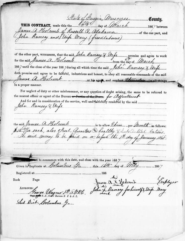 FreedmenS Bureau On   African American Genealogy Black
