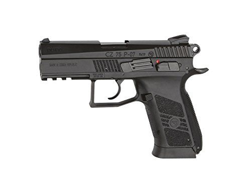 ASG Licensed CZ 75 P-07 Duty CO2 .177 BB Air Pistol - Black - http://www.airrifleforsale.com/air-pistols/asg-licensed-cz-75-p-07-duty-co2-177-bb-air-pistol-black/ - The CZ 75 P-07 DUTY is the new generation of the CZ 75 family which was first designed back in 1975 by the famous small arms manufacturer Ceská zbrojovka, Czech Republic. This is the semi automatic .177 airgun version fully licensed by CZ. It is powered by a 12g CO2 cartridge stored in the grip using the easy-loa