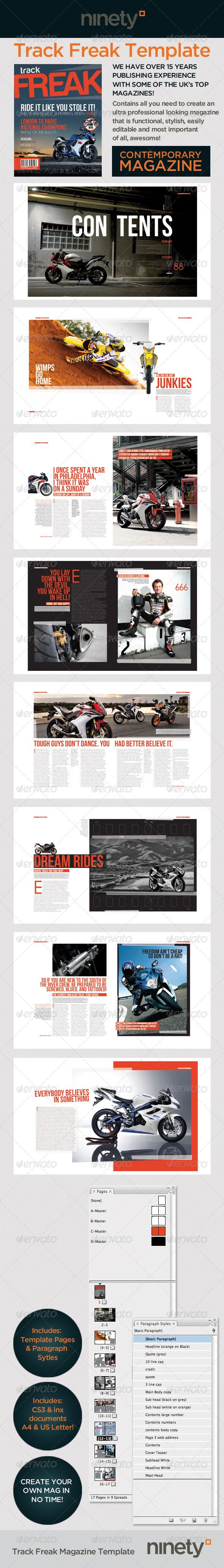 Track Freak Magazine Template: Layout Action, Magazines Layout, Style Sheet, Sexy Layout