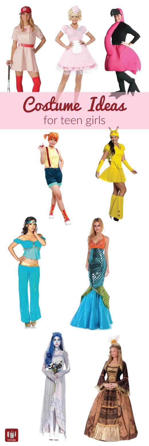10 awesome Halloween costumes for teens. Cute, fun, non-sexy. Perfect for tween and teen girls.