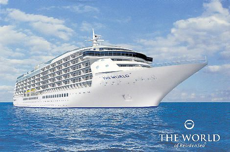Residensea luxury condo cruise ship you live on and just for Around the world cruise ship