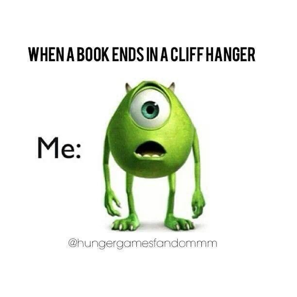 Cliffhanger...yep hmmmm I wonder what author would do such a thing. Oh wait. OUR VERY OWN UNCLE RICKY.