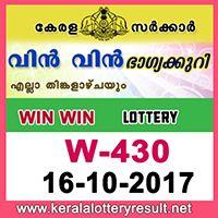 Win Win Lottery W-430 Results 16-10-2017