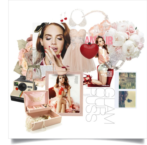 Polyvore, moodboard, inspiration, fashion, lana del rey