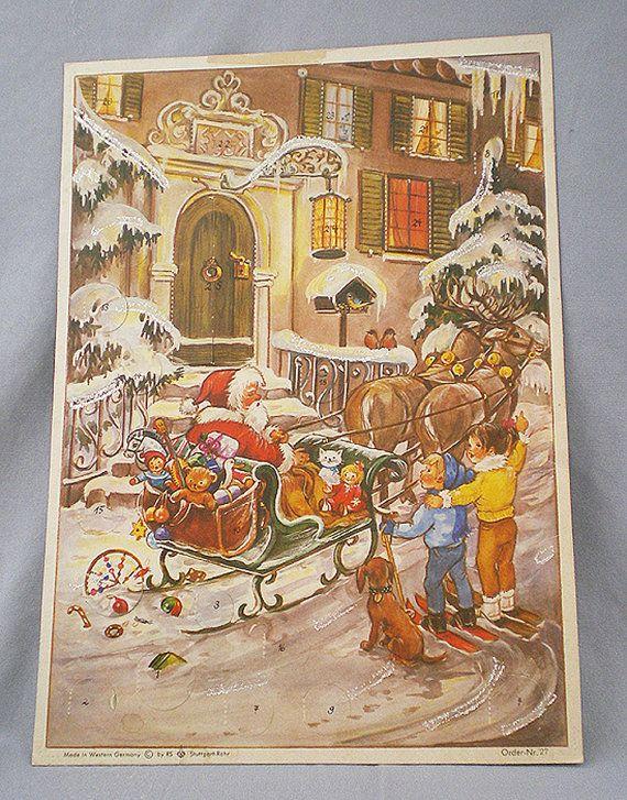 Advent Calendar Vintage : The best german advent calendar ideas on pinterest