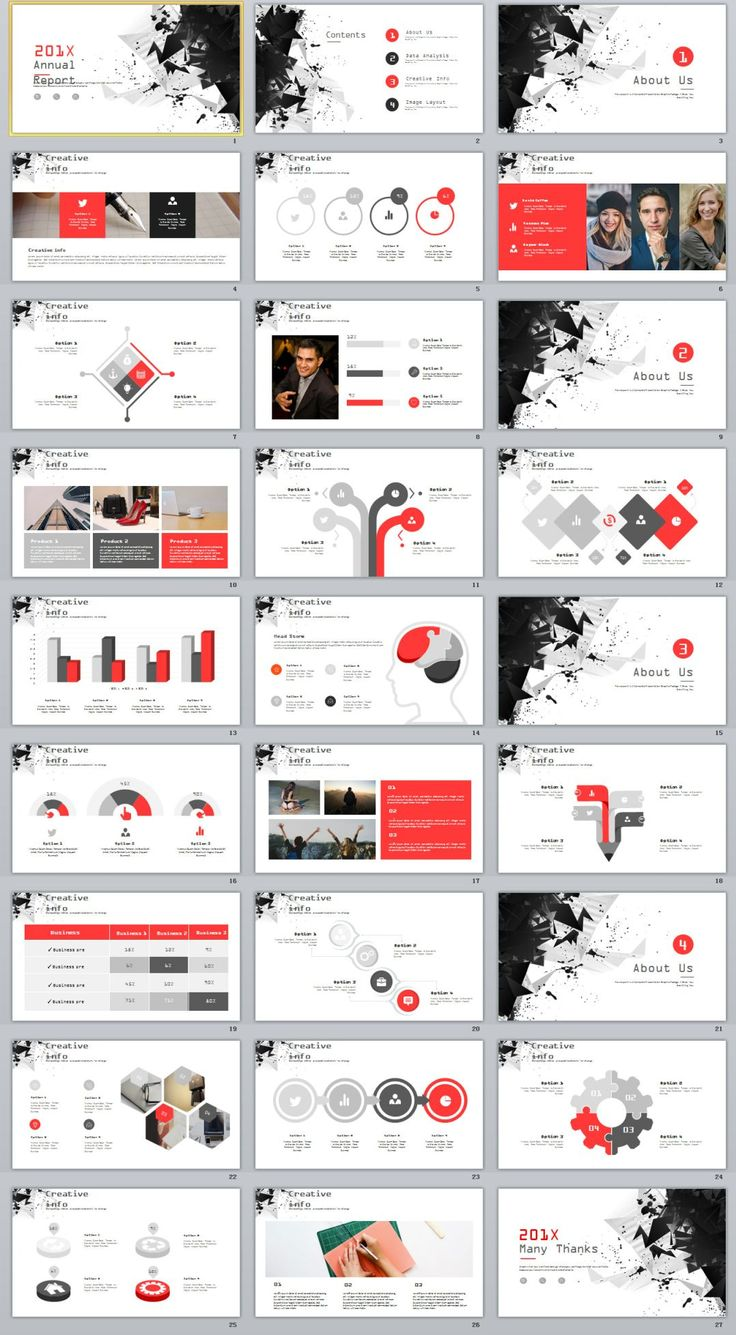 27+ Best Creative Annual Charts PowerPoint template