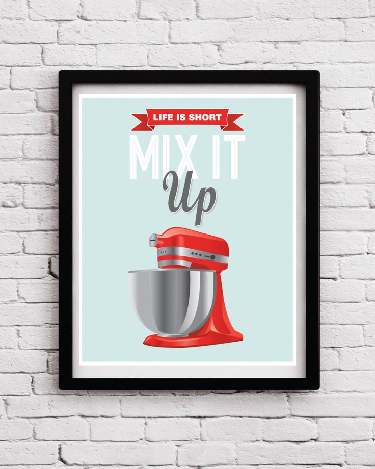 Red Light Teal Retro Funny Mix It Up Kitchen Poster, Red Mixer Quote, Red Teal Kitchen Art, Kitchen Print, Kitchen Decor, Kitchen Poster by BlackPelican on Etsy https://www.etsy.com/listing/292214385/red-light-teal-retro-funny-mix-it-up