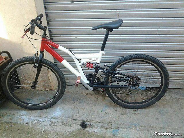 Bicicleta santiago Roja con blanco