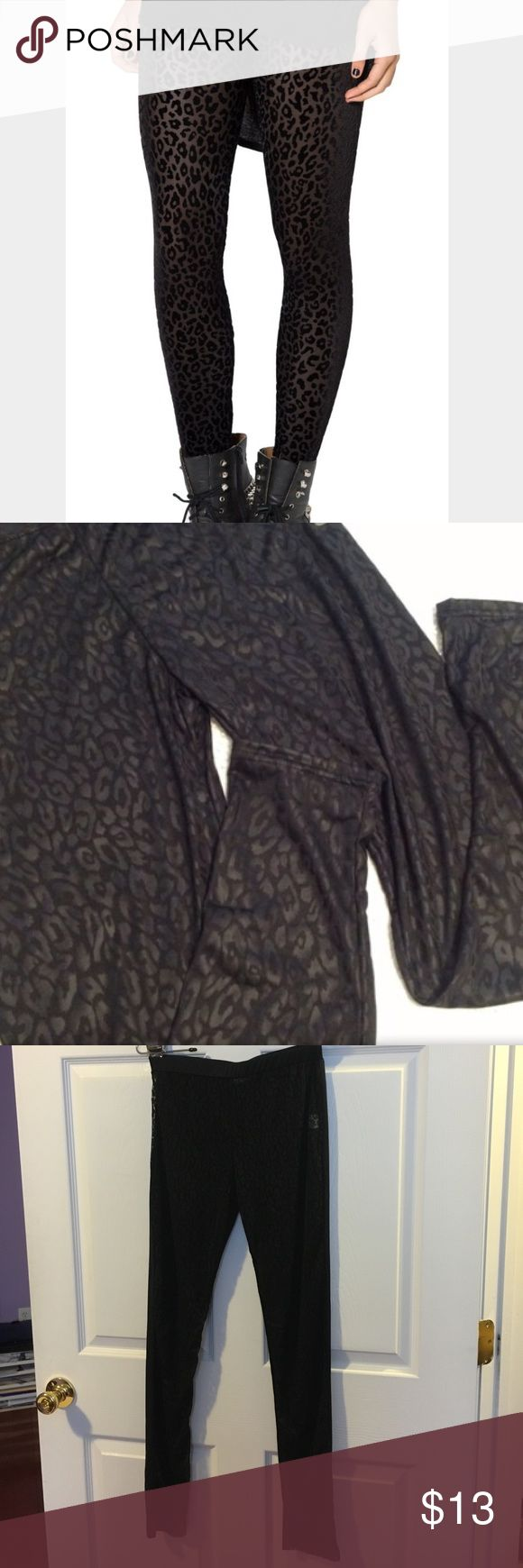 Sheer cheetah leggings Black sheer cheetah leggings. I have them is sizes small and medium. Boutique Pants Leggings