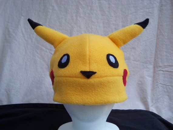 Pikachu Fleece Hat by StudioDwyer on Etsy, $20.00