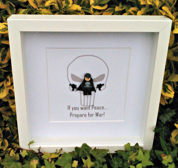 The Punisher Framed Minifigures Prepare for by DanMakesWithLove