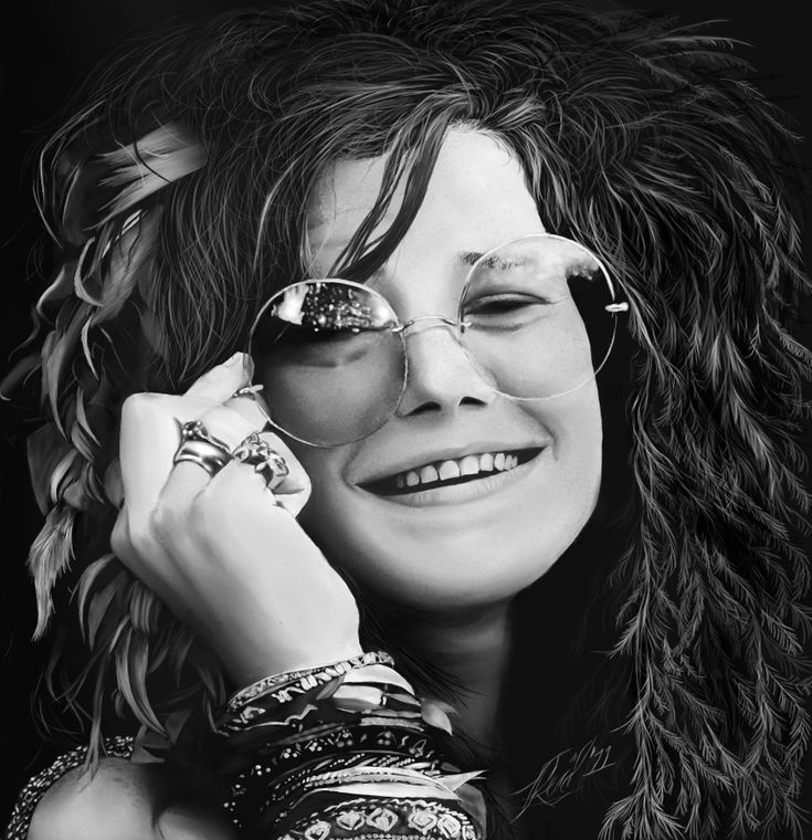 Janis Lyn Joplin (January 19, 1943 – October 4, 1970) was an American singer-songwriter who first rose to fame in the late 1960s as the lead singer of the psychedelic-acid rock band Big Brother and the Holding Company, and later as a solo artist with her own backing groups.  She was also a painter, dancer and music arranger. Rolling Stone ranked Joplin number 46 on its list of the 100 Greatest Artists of All Time in 2004