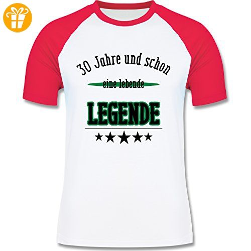Geburtstag   30.Geburtstag Legende Fun Geschenk   XXL   Weiß/Rot   L140