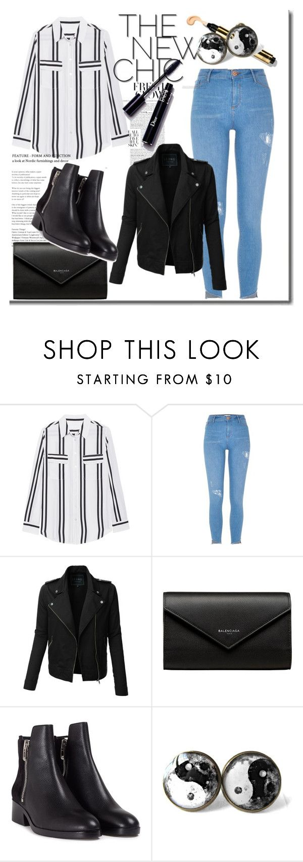 """Untitled #97"" by alexanutella on Polyvore featuring Jadicted, River Island, LE3NO, Balenciaga and 3.1 Phillip Lim"