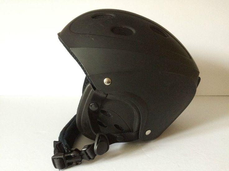 Snowboard Helmet Ski Head Protector Black Adult Sz L Louis Garneau  | eBay