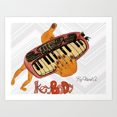 KEYBODY BODII Art Print by kikiLURVE - $26.48