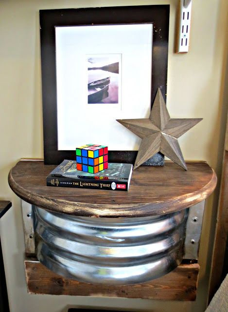 Down to Earth Style: Industrial Night Stand
