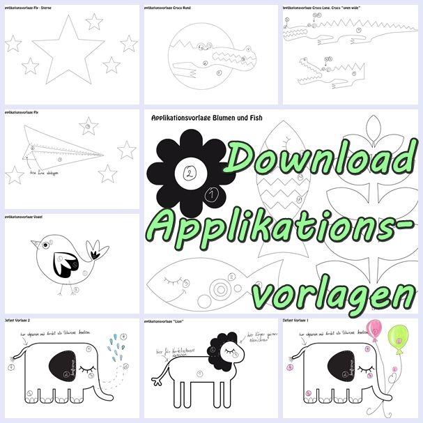 Stoff und Liebe Applikationsvorlagen