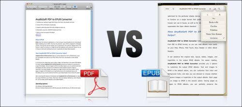 Comparison of PDF with ePUB formats in Tablets