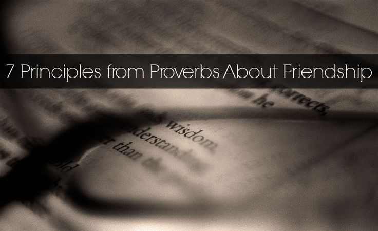 Proverbs about friendship