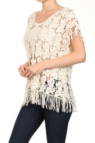 Delusive Crocheted Loose-Fit Top