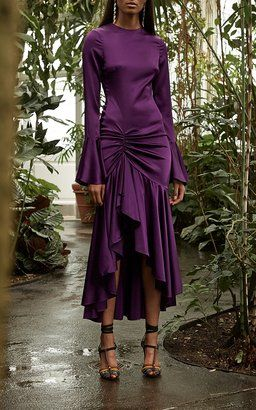 f3723599d58 Monique Plum Midi Dress by Caroline Constas Resort 2019 | Party ...