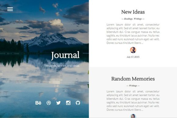 Journal - Elegant & Minimal by Stefan Djokic on Creative Market