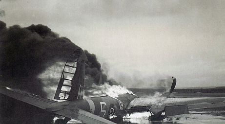 This photo shows an operational training accident in Delbert, Nova Scotia during World War Two.