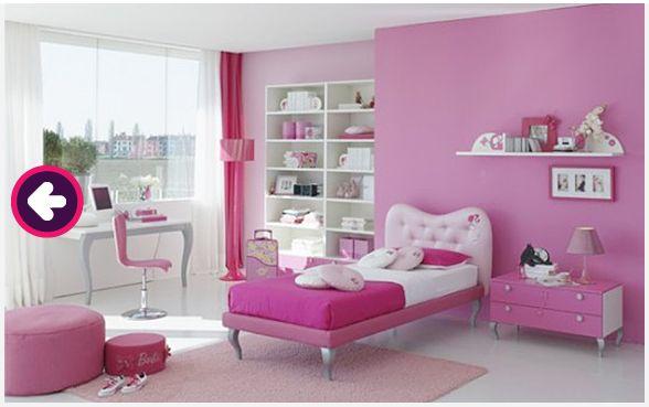 Decoração Quarto de Menina Cor Rosa Pink  ~ Quarto Rosa Pink